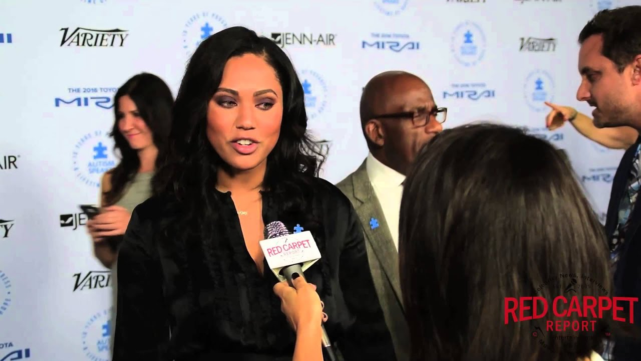 591b1f5b45fc Ayesha Curry on the Blue Carpet at Autism Speaks 10th Anniversary Gala   LAChefs4Autism - YouTube