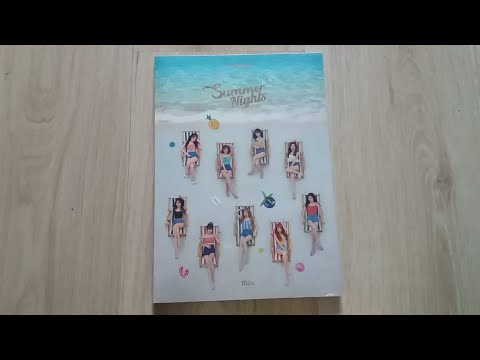 Unboxing Twice 2nd special album Summer Nights
