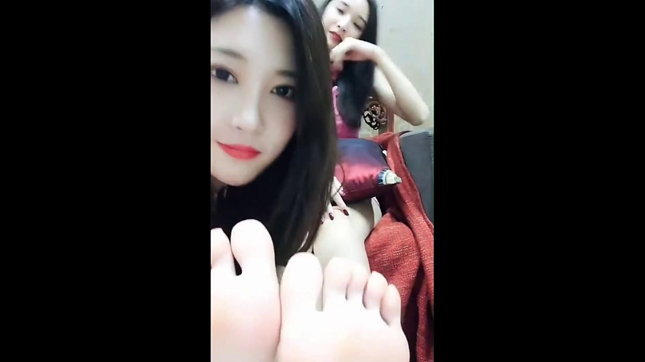 tickling on bare Asian feet - YouTube
