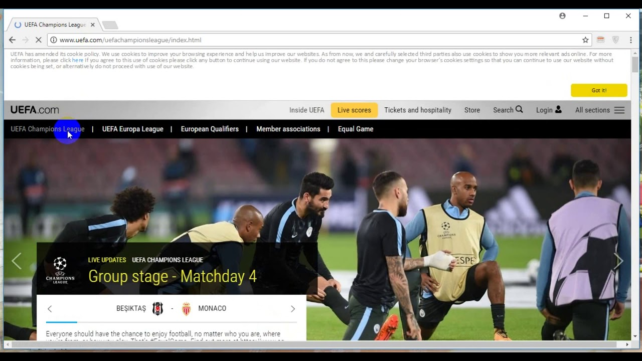 Cách xem trực Tiếp Bóng Đá Cúp C1 UEFA Champion League, UEFA Europa League 2017- 2018
