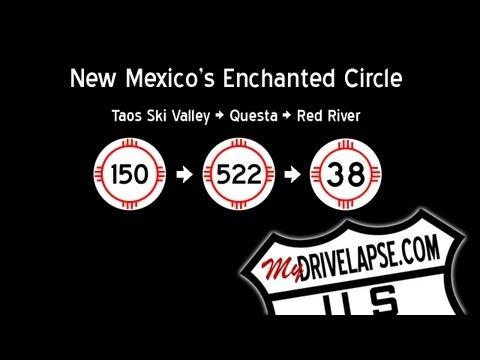 Enchanted Circle: Taos Ski Valley, Questa, Red River Time Lapse Dashcam