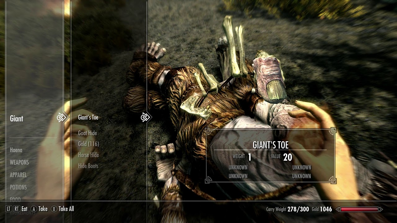 How to get the Giants Toe - Skyrim Special Edition