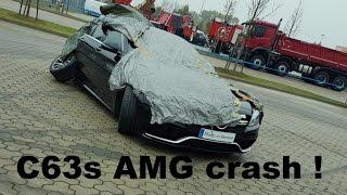 Mercedes Benz C63 S AMG Burnout, Drift, crasht, Totalschaden, Powerslide, Acceleration, Exhaust