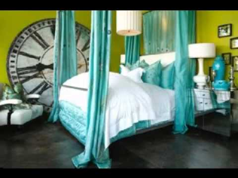 Brown and turquoise bedroom decorating ideas - YouTube