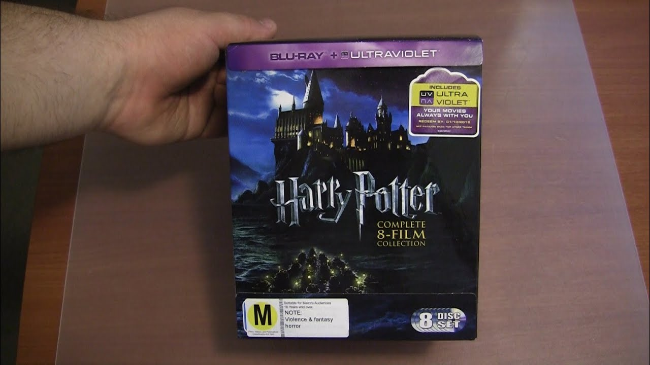 Harry Potter Complete 8 Film Blu-ray + UltraViolet Collection unboxing