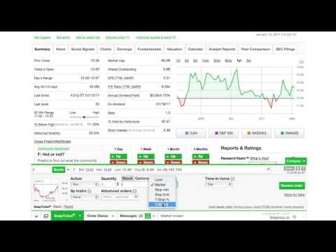 How to buy stock w/ TD Ameritrade (2 min)