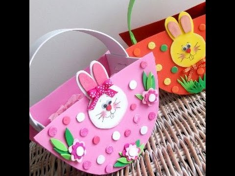 How To DIY Easter Basket Crafts For Kids Tutorial