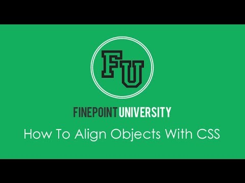 How To Align Objects With CSS
