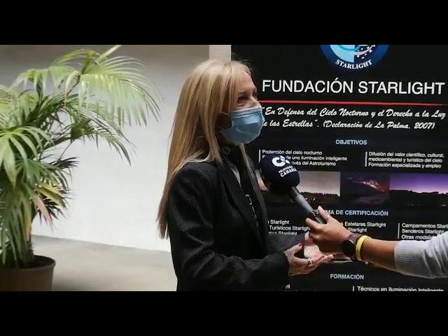 Declaraciones de Raúl Camacho, y de Antonia Varela, sobre la jornada sobre protección del cielo
