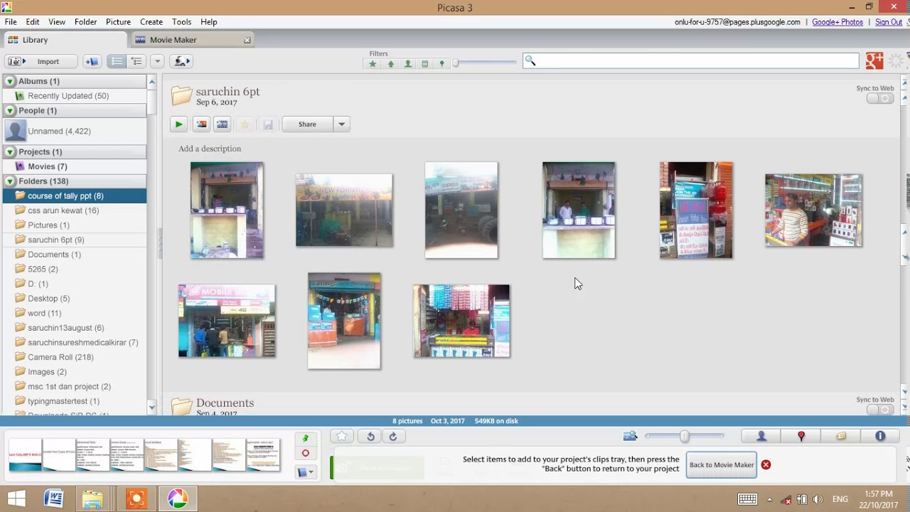how to create picture movie in picasa 3 in hindi youtube