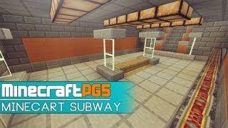 Minecart Subway with Cart Trains - Metro - Minecraft