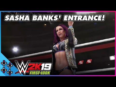 5f53c2442 WWE 2K19: SASHA BANKS makes a BOSS entrance! - Vloggest