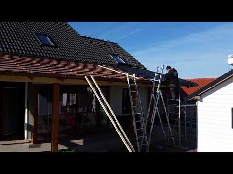 DIY Pergola build Part 4. How to Install a KJG Metal Roof System.Zastrešenie terasy-strešná krytina.