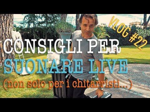 Consigli per suonare dal vivo - il mio Setup per il live music - VLOG# 22 Professione Chitarrista