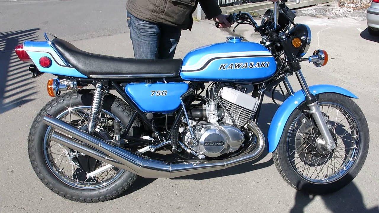 Kawasaki 1972 H2 750 Triple Restoration - YouTube