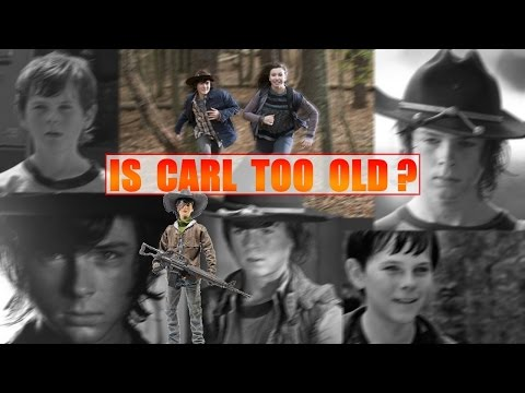 Is Carl too old for his comic story in The Walking Dead TV Series