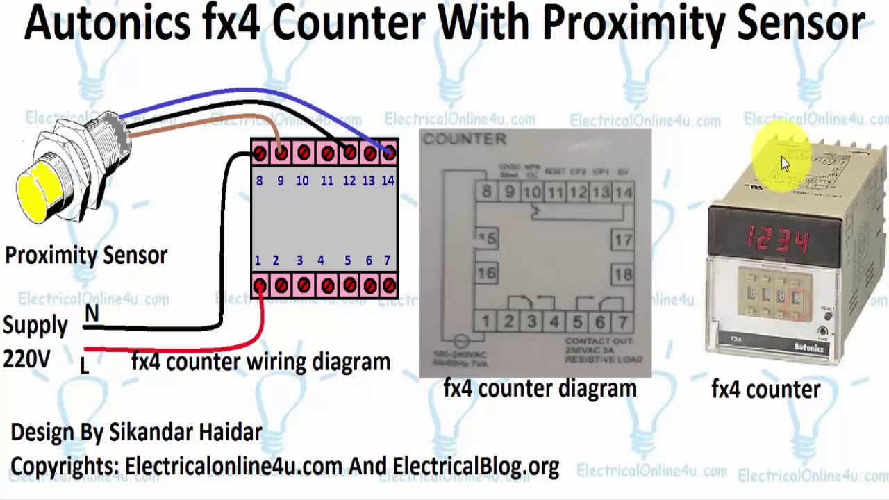 wiring diagram for counter autonics fx4 counter with proximity sensor connection diagram wiring diagram for international 244 tractor autonics fx4 counter with proximity