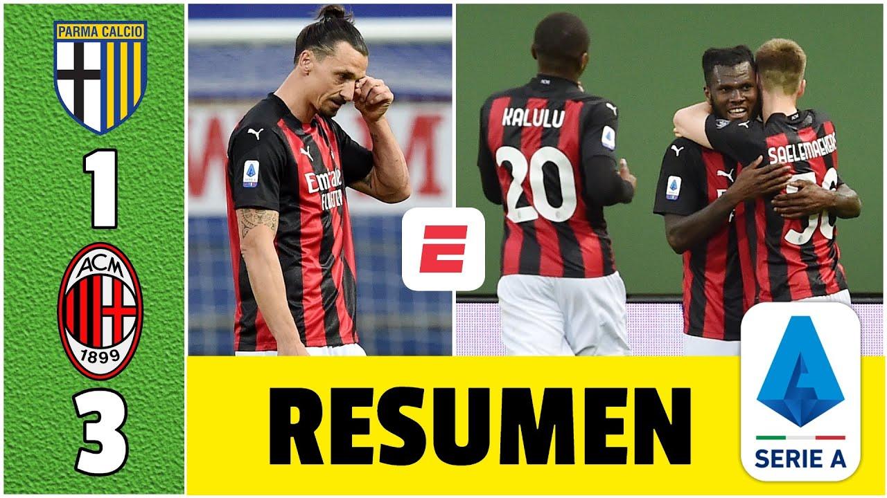 Download Parma 1-3 AC Milan. Rebic, Kessié y Leao anotaron. Zlatan expulsado. Firmes en 2do lugar | Serie A