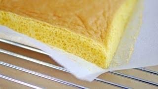 Sponge Cake Quick Easy 3 ingredients Recipe