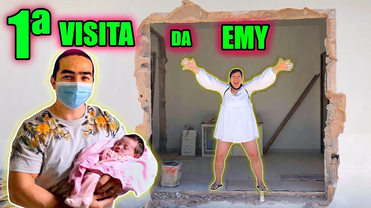 PRIMEIRA VISITA DA EMY NA CASA NOVA - DIÁRIO DE REFORMA | Maru e Bomba
