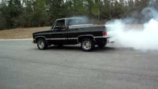 1986 Chevy C-10 W/ 454 Burnout