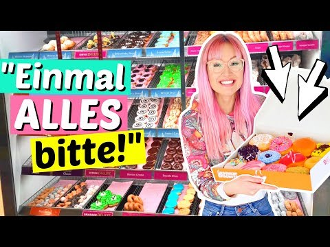 ALLE Donuts die es im Laden gibt kaufen 😳| ViktoriaSarina
