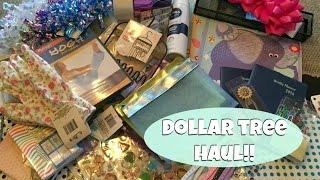 Huge DOLLAR TREE HAUL!! February 2016 | New Finds
