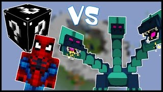 Чёрный Лаки Блок And Человек Паук VS Гидра   Лаки Битва 5