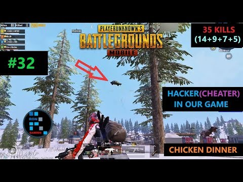 [Hindi] PUBG MOBILE | '35 KILLS' CHEATER IN GAME AMAZING SQUAD CHICKEN DINNER