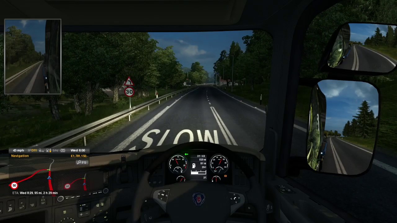 euro truck simulator 2 wick scotland uk to oban scotland uk