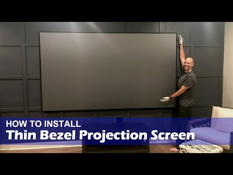 How To Install XY Screens Thin Bezel Projection Screen(English Version)