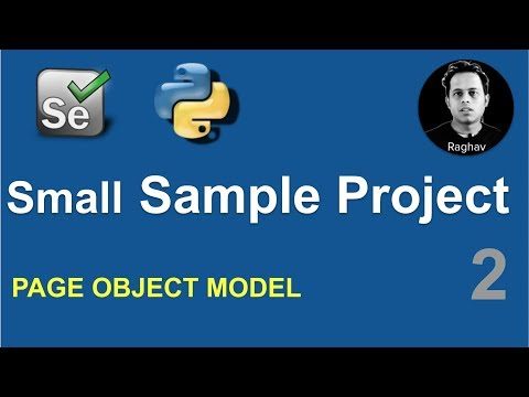 Selenium Python Small Sample Project | Page Object Model POM