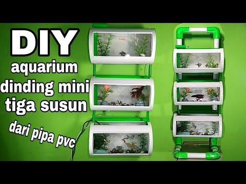 DIY aquarium dinding mini 3 susun/mini wall aquarium three ...