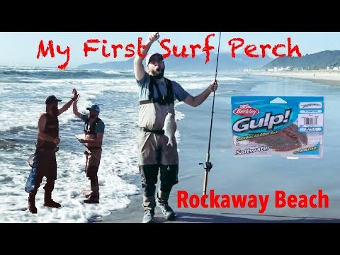 SLAB SURF PERCH - My First Fish From The Surf - Rockaway Beach Oregon - W/ Northwest Elevations