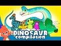 Learn Dinosaurs for Kids | Cute Dinosaur movie Compilation | Triceratops Brachiosaurus T-rex