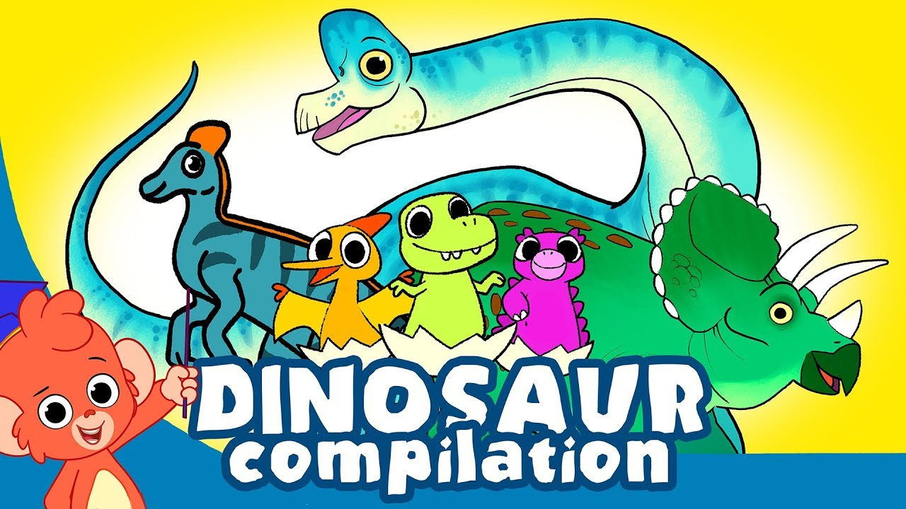Image of: Png Learn Dinosaurs For Kids Cute Dinosaur Movie Compilation Triceratops Brachiosaurus Trex Youtube Learn Dinosaurs For Kids Cute Dinosaur Movie Compilation