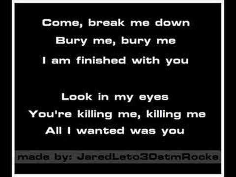 30 Seconds To Mars - The Kill [Karaoke/Instrumental]