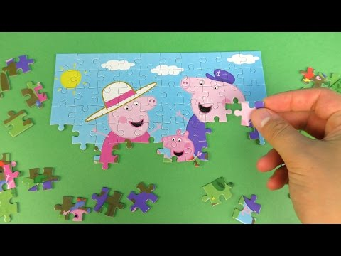 Peppa Pig Muddy Puddles Puzzle for kids