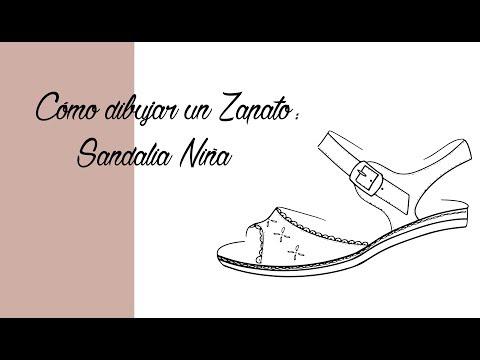 Cómo Youtube Una Para Niñas Speed Drawing Dibujar Sandalia kZOiuTPX