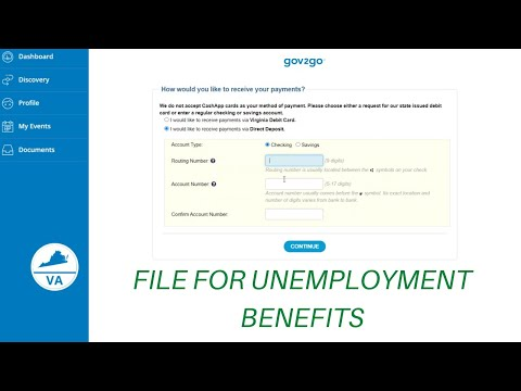Virginia Applying For Unemployment Benefits ($700/Week)