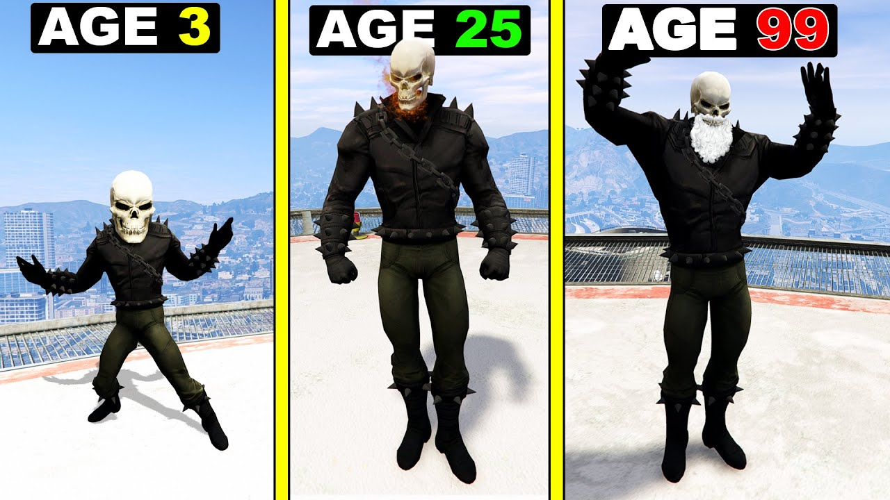 Surviving 99 YEARS As GHOST RIDER in GTA 5