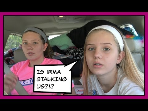 RUNNING FROM HURRICANE IRMA || EVACUATING FLORIDA VLOG || Taylor and Vanessa