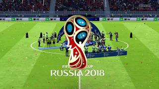 Russia the champions of the World Cup FIFA 2018