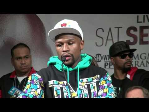 Floyd Mayweather Full emotional post fight press conference after beating Berto