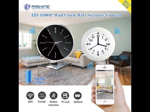 Classical Wall Clock WiFi Camera(AI-IP100)-Demo