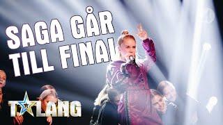 """Saga gör ett popstjärneframträdande med låten """"Ain´t my fault"""" i Talang 2019. - Talang (TV4) thumbnail"""