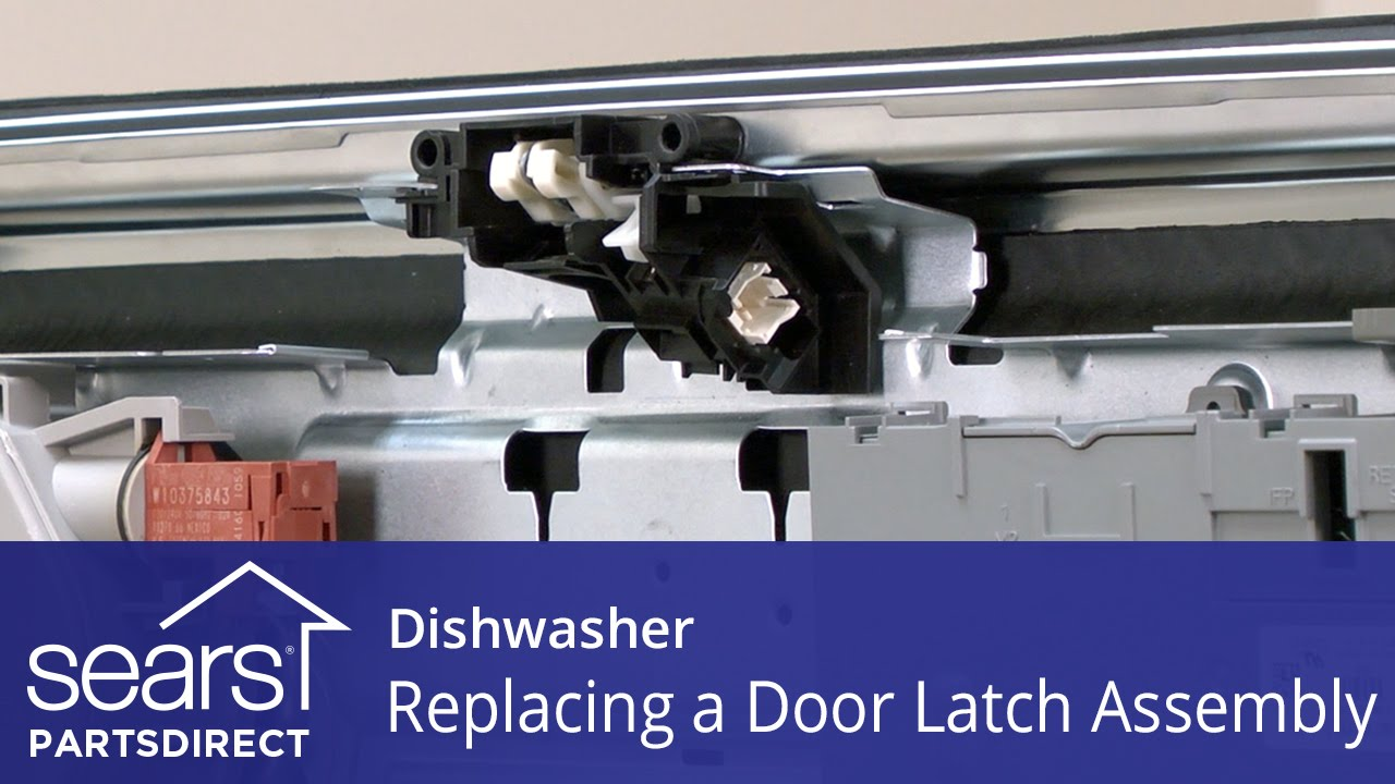 How to replace a dishwasher door latch assembly | Repair guide