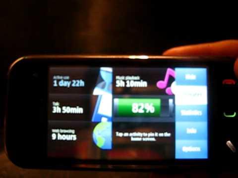 Test de Nokia Battery Monitor sur Nokia N97 Mini