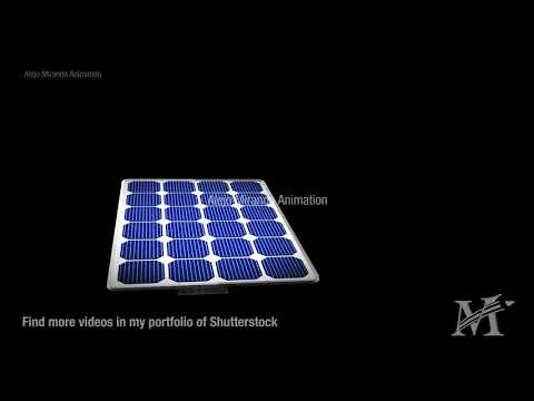 Parts of solar panel - Cinema 4D