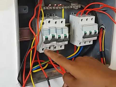 How to make MCB box connection in house wiring